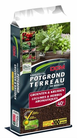 Potgrond voor groenten en kruiden