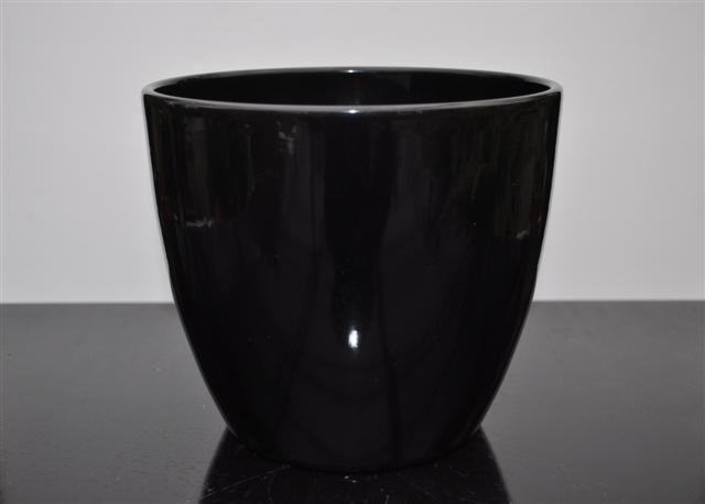 Pot boule zwart glans