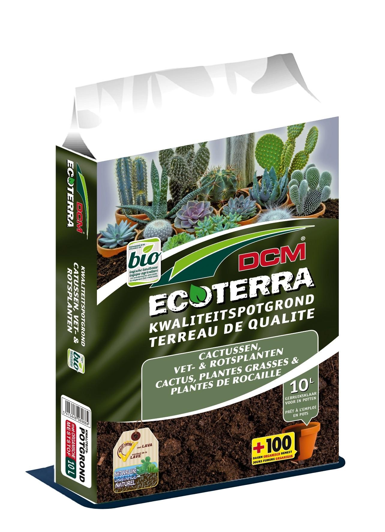 Potgrond voor cactussen, vet- en rotsplanten