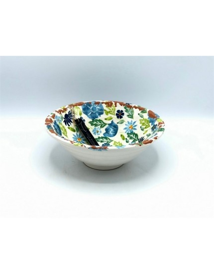 Flowergarden Blue/Green schaal