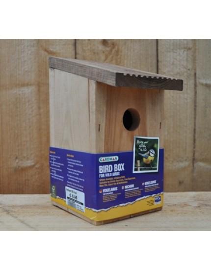 Nestkast voor mezen, mussen en boomklevers