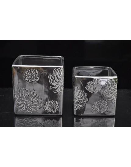 Pot vierkant zilver