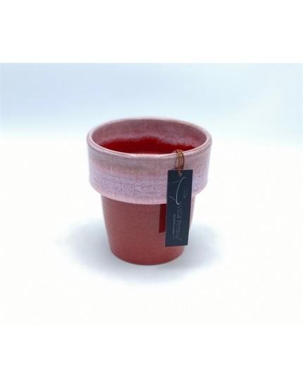Toscane pot red pink